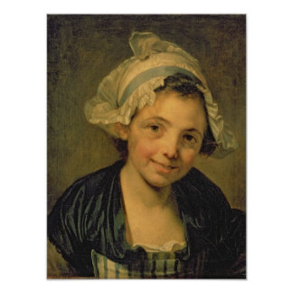 Girl in a Bonnet, 1760s Poster