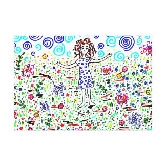 Girl in a Field Canvas Print