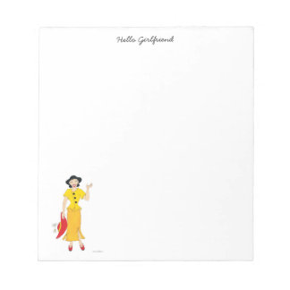 Girl in a yellow dress notepads
