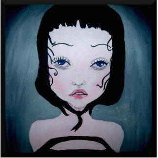 Girl in black fotoskulptur photo cutout