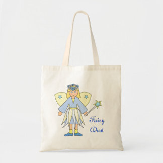 Girl in Blue and Yellow Fairy Costume Tote Bag