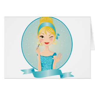 Girl in blue card