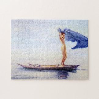 'Girl in Bow of Canoe' - John La Farge Jigsaw Puzzle