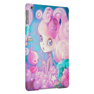 Girl in Bubblebath with Candles and Roses iPad Air Covers