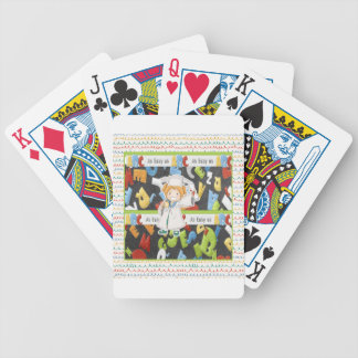 Girl in Cap and Gown with Diploma on ABC Bicycle Playing Cards