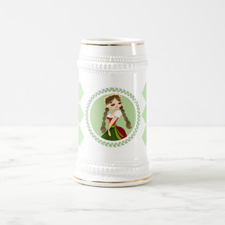 Girl in Dirndl Beer Stein