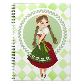 Girl in Dirndl Notebooks