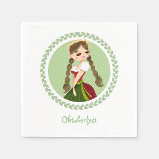 Girl in Dirndl Paper Napkin