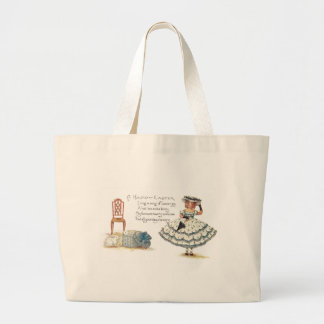Girl in Easter Dress and Bunnies Canvas Bags