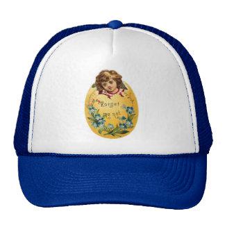 Girl in Egg Forget Me Not Trucker Hats