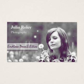 Girl In Field Photo Business Card