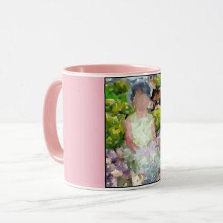 Girl in Garden Mug