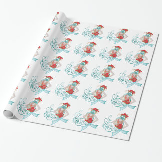 Girl in Gasmask Allergy2 Wrapping Paper