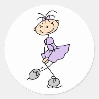 Girl In Lilac Ice Skater Sticker