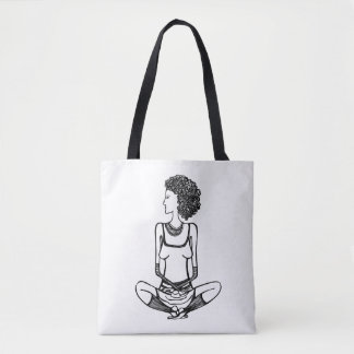 Girl in Lotus position Tote Bag