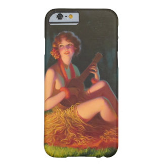 Girl in Moonlight with Banjo Ukulele Barely There iPhone 6 Case
