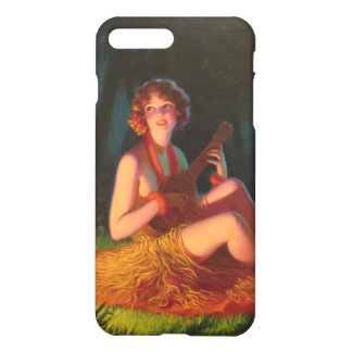 Girl in Moonlight with Banjo Ukulele iPhone 8 Plus/7 Plus Case