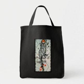 GiRl In mUMMy WrAppEd dreSS Grocery Tote Bag