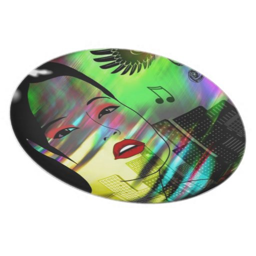 Girl In Music Plates