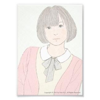 """Girl In Pastel (5"""" x 7"""" Satin Photo Paper Print)"""