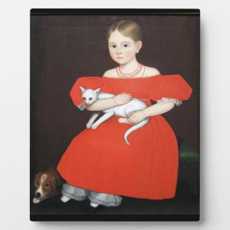 Girl in Red Dress Tabletop Plaque With Easel