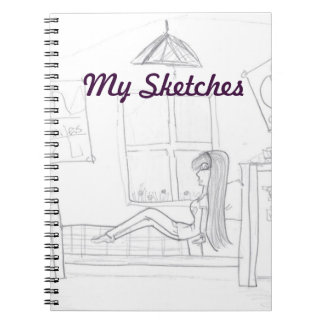 Girl In Room Sketch Book Notebooks