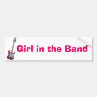 Girl in the Band Bumper Sticker