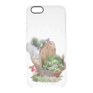 girl in the basket clear iPhone 6/6S case