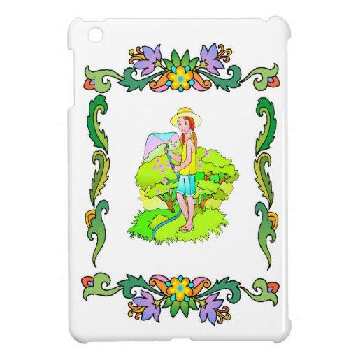Girl in the garden iPad mini cover