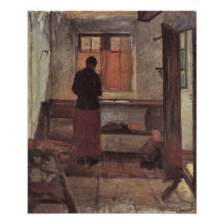 Girl in the kitchen by Anna Ancher Print