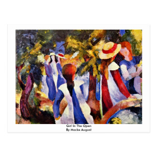 Girl In The Open By Macke August Postcard