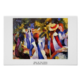 Girl In The Open By Macke August Print