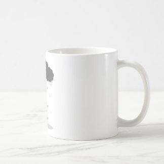 Girl in the rain 1 coffee mug