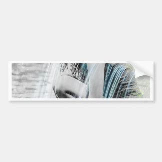 Girl in the Waterfall Bumper Sticker