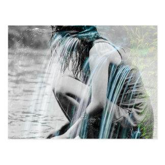 Girl in the Waterfall Postcard
