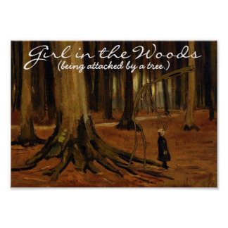 'Girl in the Woods' Print