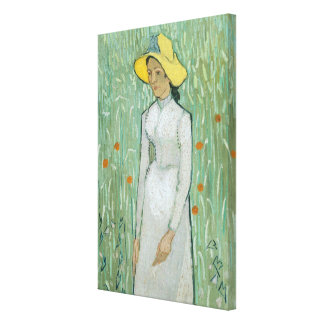 Girl in White, 1890 (oil on canvas) Stretched Canvas Print