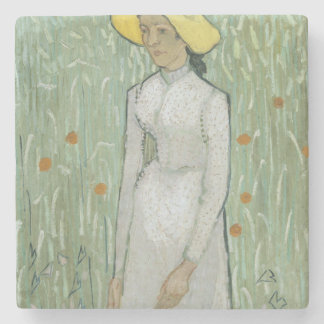 Girl in White Stone Coaster