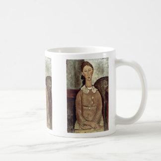 Girl In Yellow Dress By Modigliani Amedeo Coffee Mugs