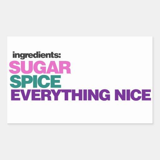 Girl Ingredients Sticker