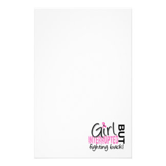 Girl Interrupted 2 Breast Cancer Stationery