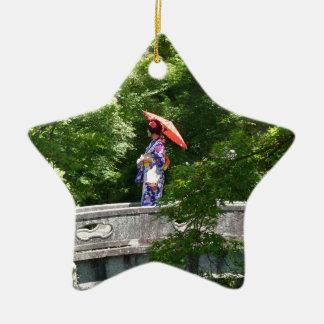Girl Japan Ceramic Star Decoration