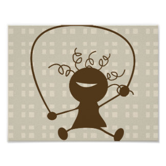 Girl Jumping Rope Poster