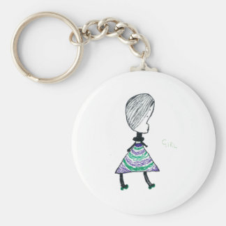 Girl Key Ring