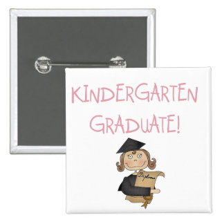 Girl Kindergarten Graduate Tshirts and Gifts Pinback Buttons