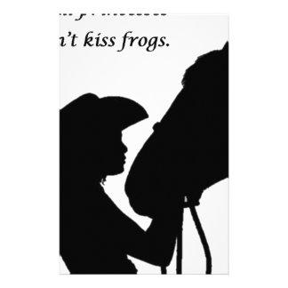 Girl Kissing Horse Stationery
