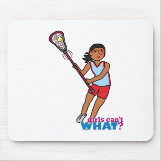 Girl Lacrosse Player - Dark Mouse Pad