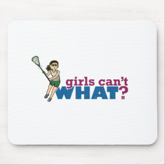 Girl Lacrosse Player Green Uniform Mouse Pad