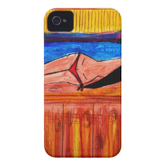 Girl Laying on the Tiki Bar iPhone 4 Cover