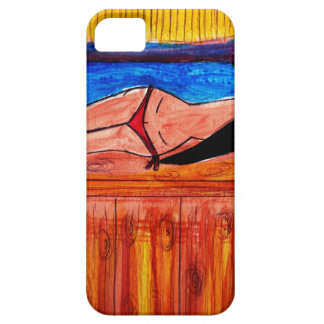 Girl Laying on the Tiki Bar iPhone 5 Cover